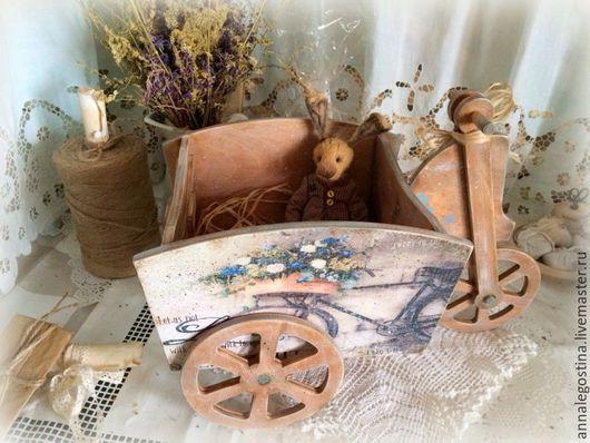 """Корзины, коробы ручной работы. Ярмарка Мастеров - ручная работа. Купить """"Велосипед""""-короб для сухоцветов, цветов и специй. Handmade. Дуб"""