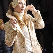 Одежда ручной работы. Ярмарка Мастеров - ручная работа валяное пальто классика светлое. Handmade.