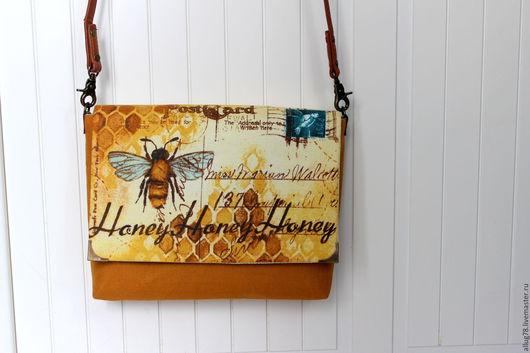 """Женские сумки ручной работы. Ярмарка Мастеров - ручная работа. Купить """"М"""" Сумка Honey-2. Handmade. Желтый"""