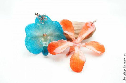 Для украшений ручной работы. Ярмарка Мастеров - ручная работа. Купить Кулон цветок орхидеи в акриле серебро аасортимент. Handmade.