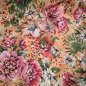 Ткани ручной работы. Ярмарка Мастеров - ручная работа Ткань сатин, винтаж.. Handmade.