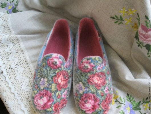 Обувь ручной работы. Ярмарка Мастеров - ручная работа. Купить Тапочки валяные Печки-Лавочки. Handmade. Тапочки валяные