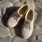Обувь ручной работы. Ярмарка Мастеров - ручная работа туфли для улицы,,Теплый гранит``. Handmade.