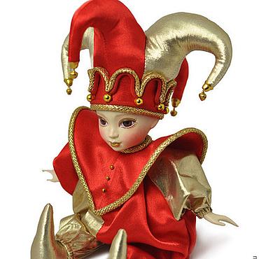 Куклы и игрушки ручной работы. Ярмарка Мастеров - ручная работа Арлекин красно-золотой. Handmade.