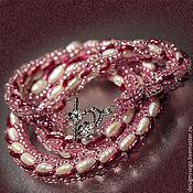 Украшения handmade. Livemaster - original item Pearl necklace with JAPANESE tono beads. Handmade.