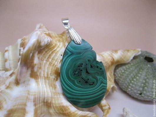 Кулоны, подвески ручной работы. Ярмарка Мастеров - ручная работа. Купить кулон из малахита Капля-2. Handmade. Зеленый