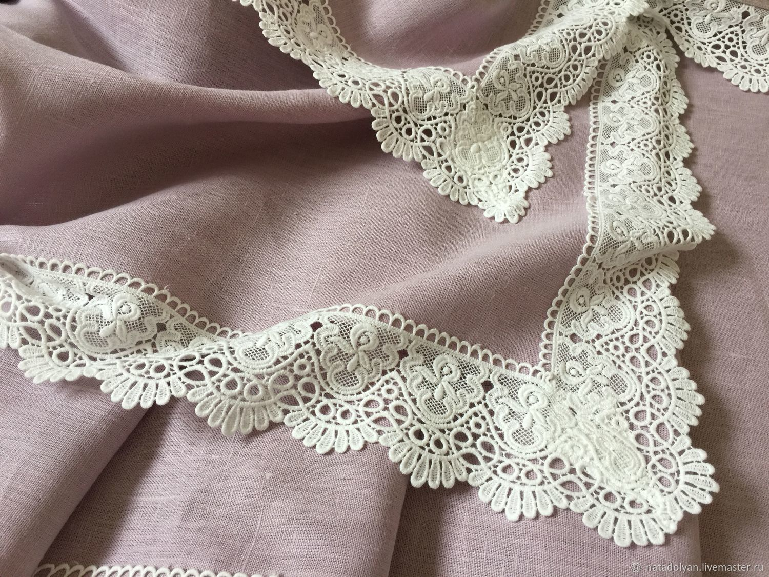 Home Textiles & Carpets handmade. Livemaster - handmade. Buy Linen tablecloth 'Gentle lilac' In the presence of rectangular.