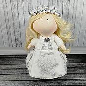 Тыквоголовка ручной работы. Ярмарка Мастеров - ручная работа Кукла Белая Королева. Handmade.