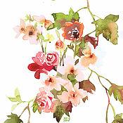 Картины и панно ручной работы. Ярмарка Мастеров - ручная работа Виноград и роза. Handmade.