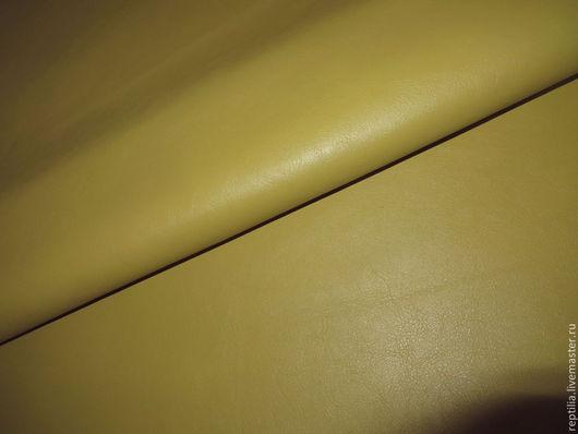 """Шитье ручной работы. Ярмарка Мастеров - ручная работа. Купить Натуральная кожа КРС """"Giallo fresco""""!. Handmade. Кожа, для рукоделия"""