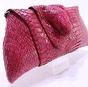 Сумки и аксессуары handmade. Livemaster - original item Clutch women`s leather Cobra head snake IMK0010R. Handmade.