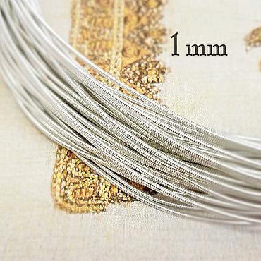 Материалы для творчества ручной работы. Ярмарка Мастеров - ручная работа Канитель ОПТ жёсткая 1 мм серебро 100 граммов. Handmade.