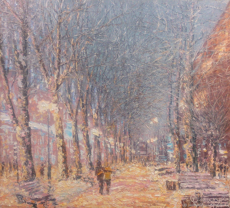 Желтый зимний вечер, Картины, Бежецк, Фото №1