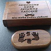 Сувениры и подарки handmade. Livemaster - original item Souvenir wooden flash drive with individual engraving. Handmade.