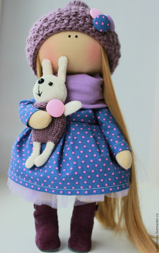 Коллекционные куклы ручной работы. Ярмарка Мастеров - ручная работа. Купить интерьерная куколка. Handmade. Сиреневый, фатин мягкий