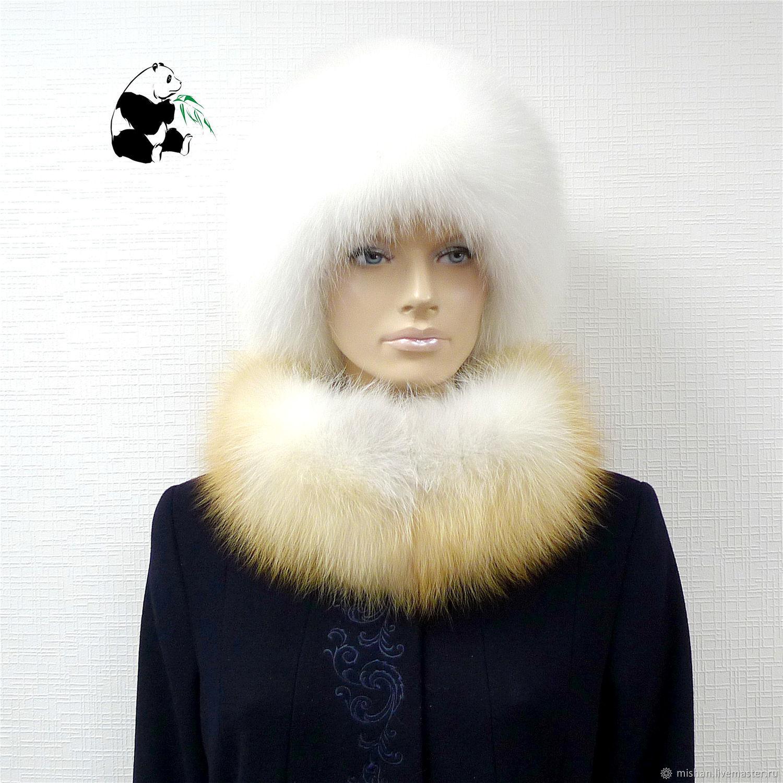 Removable fur collar Snood fur red Fox. VN-31, Collars, Ekaterinburg,  Фото №1