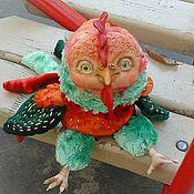 Куклы и игрушки ручной работы. Ярмарка Мастеров - ручная работа Красный Петушок - интерьерная игрушка. Handmade.