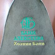 Для дома и интерьера handmade. Livemaster - original item NOVELTY Bath hat with logo (embroidery). Handmade.