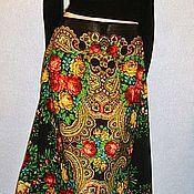 Одежда handmade. Livemaster - original item Skirt Maxi pavlogoradsky scarves