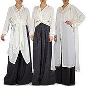 Одежда handmade. Livemaster - original item Shirt. Dress shirt. White. Convertible dresses -