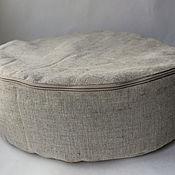 Для дома и интерьера handmade. Livemaster - original item Cushion/pouf meditation from flax filled with flax. Handmade.