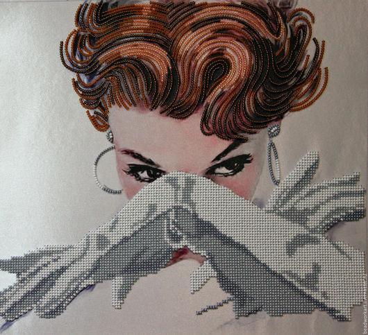 """Люди, ручной работы. Ярмарка Мастеров - ручная работа. Купить Картина """"Охотница"""". Handmade. Белый, взгляд, картина для интерьера"""