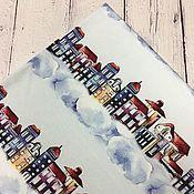 """Ткани ручной работы. Ярмарка Мастеров - ручная работа Футер 2-нитка """"Город"""". Handmade."""