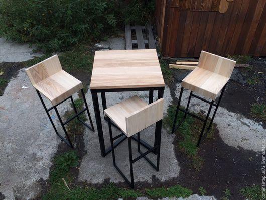 Мебель ручной работы. Ярмарка Мастеров - ручная работа. Купить Стол и барные стулья. Handmade. Металл, металл