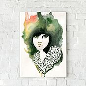 Картины и панно handmade. Livemaster - original item Watercolor Portrait of a beautiful girl. Handmade.