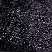 Материалы для творчества handmade. Livemaster - original item A set of templates for belts made of acrylic Classic mixing. Handmade.