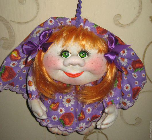 """Человечки ручной работы. Ярмарка Мастеров - ручная работа. Купить Кукла Попик на удачу"""" Девочка Лето"""". Handmade. Желтый, попик"""