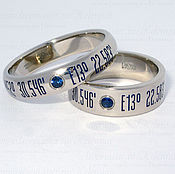 Свадебный салон ручной работы. Ярмарка Мастеров - ручная работа Обручальные кольца с геометками. Handmade.