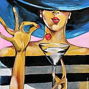 Картины и панно ручной работы. Ярмарка Мастеров - ручная работа картина Вишенка. Handmade.