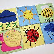 Куклы и игрушки handmade. Livemaster - original item Educational cards for kids. Handmade.