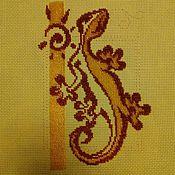Картины и панно ручной работы. Ярмарка Мастеров - ручная работа Ящерка. Handmade.