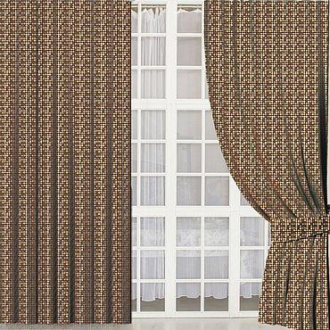 """Текстиль ручной работы. Ярмарка Мастеров - ручная работа Шторы """"Шоколад и карамель"""". Handmade."""