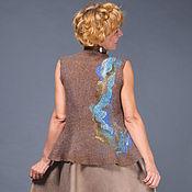 """Одежда ручной работы. Ярмарка Мастеров - ручная работа валяный жилет """"Фактуры"""". Handmade."""