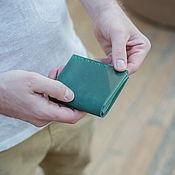 Сумки и аксессуары handmade. Livemaster - original item Wallet male leather green. Handmade.
