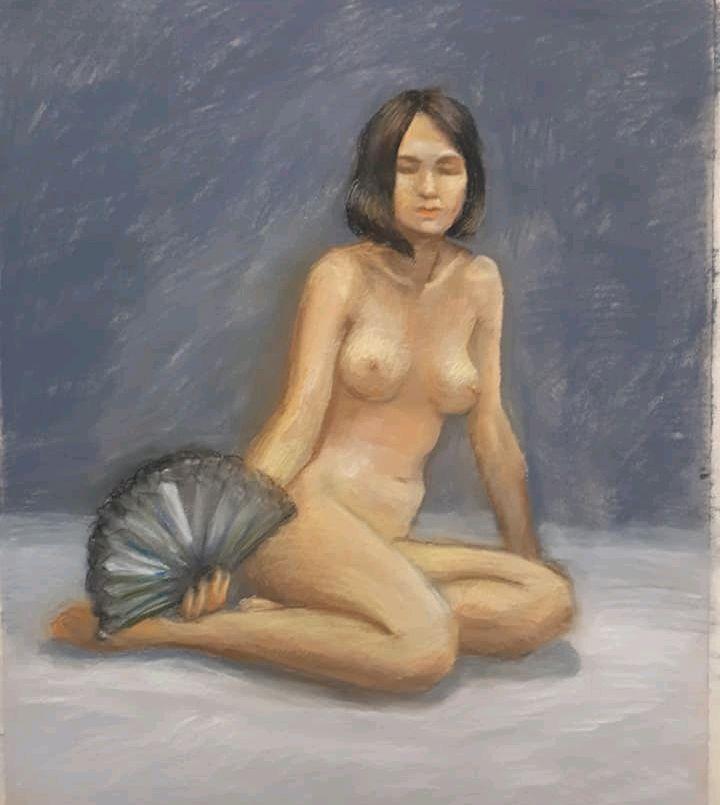 девушка с веером, Картины, Москва, Фото №1