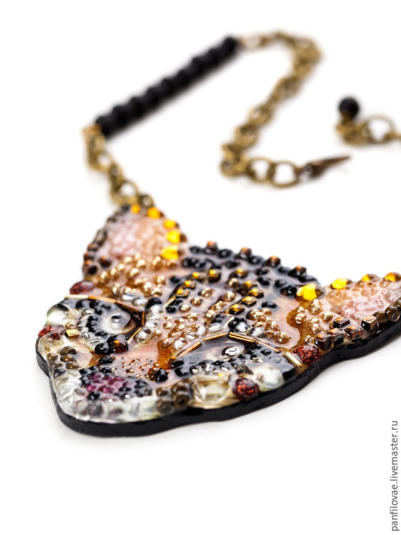 order wild cat ekaterina panfilova livemaster necklace