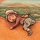 """Детская ручной работы. """"Вперед по макушкам деревьев..."""" картина (дерево,папье-маше). Жердева Мария AlexArt (папье-маше). Ярмарка Мастеров."""