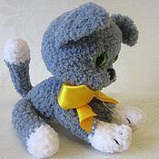 Куклы и игрушки ручной работы. Ярмарка Мастеров - ручная работа Вязаный котенок Бишка. Handmade.