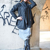 Одежда handmade. Livemaster - original item Dark grey wool coat. Handmade.