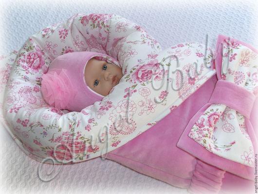 """Для новорожденных, ручной работы. Ярмарка Мастеров - ручная работа. Купить Комплект на выписку """"Маленькая красавица"""". Handmade. Комплект на выписку"""