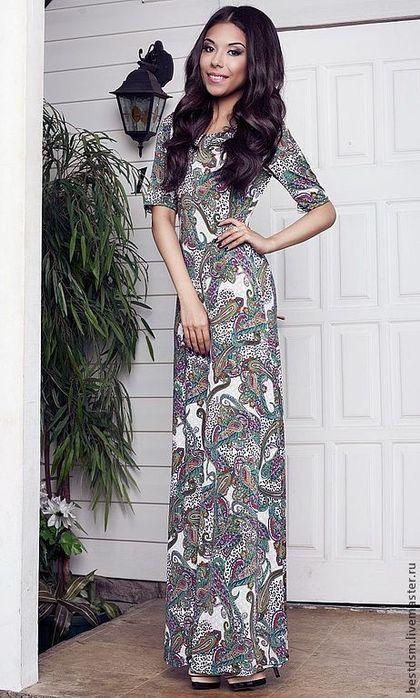 платья из льна в народном стиле