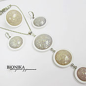Украшения handmade. Livemaster - original item Set of polymer clay guest from the future. Pendant,earrings,ring.. Handmade.