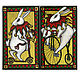 панно `Кролик-циркач на самокате` и  панно `Кролик-циркач на велосипеде`