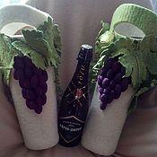 Подарки к праздникам ручной работы. Ярмарка Мастеров - ручная работа Чехол на бутылку. Handmade.