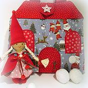 Куклы и игрушки ручной работы. Ярмарка Мастеров - ручная работа Домик-сумочка для гномочки новогодний. Handmade.