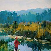Картины и панно ручной работы. Ярмарка Мастеров - ручная работа Удачная рыбалка. Handmade.